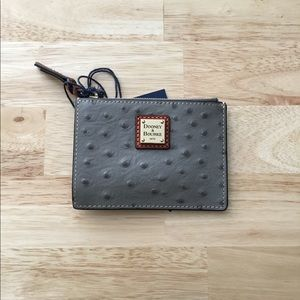 NWT Dooney & Bourke Ostrich Mini Wallet